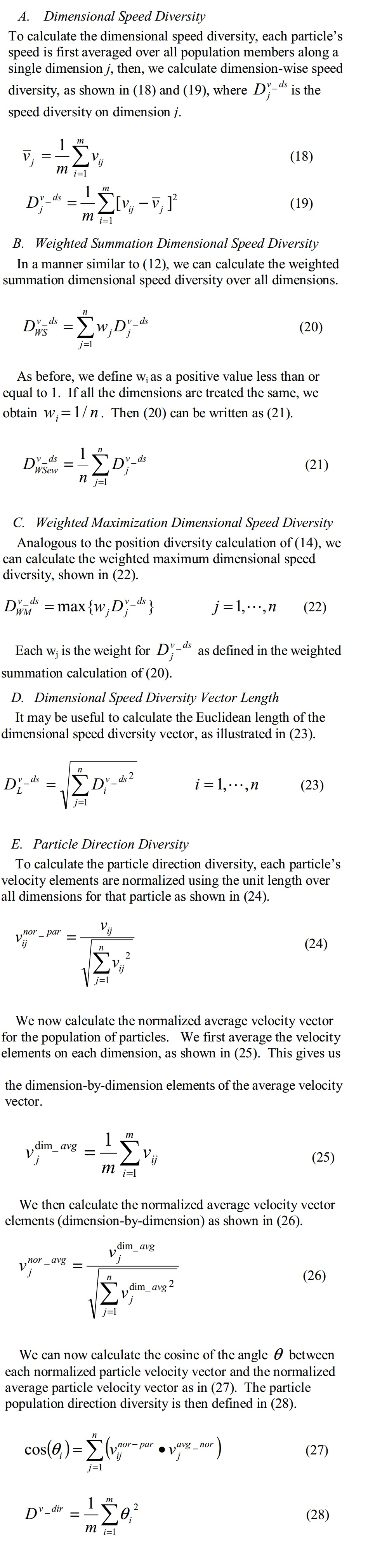 velocity-diversity