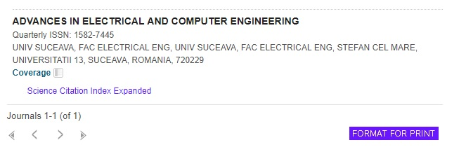 Advances in Electrical and Computer Engineering
