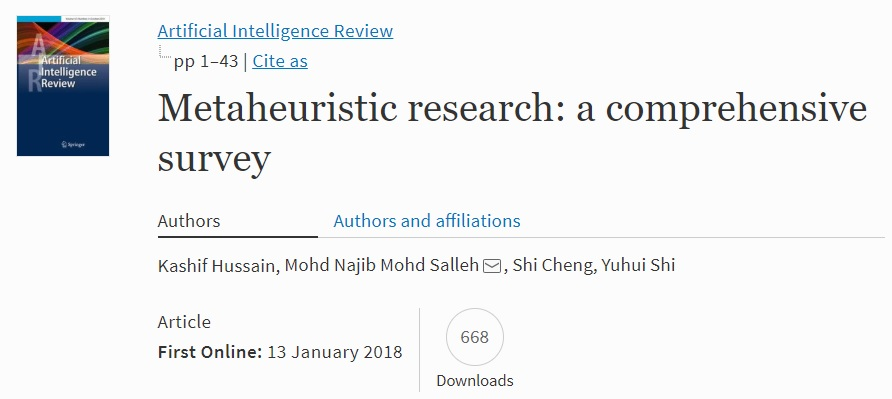 Metaheuristic research: a comprehensive survey