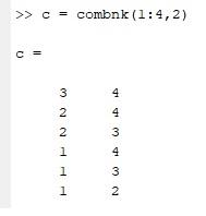Matlab ile kombinasyondaki bütün olasılıkları nasıl listeleriz?