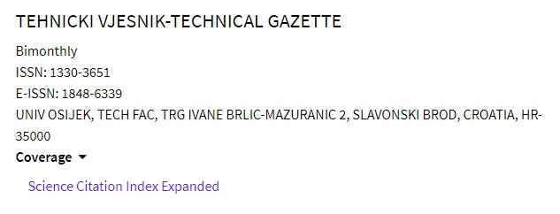 TEHNICKI VJESNIK-TECHNICAL GAZETTE