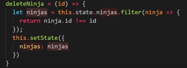 React – Javascript diziden ID ile eleman nasıl silinir?