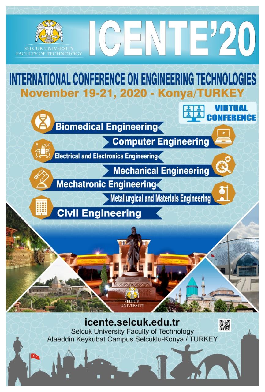 4. Uluslararası Mühendislik Teknolojileri Konferansı